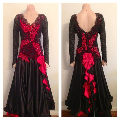 Magaret+Blk+Red+Dress+front1