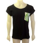 Tshirt with green pocket front
