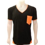 black & orange pocket front