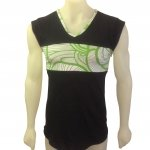 tank top with leave print front1